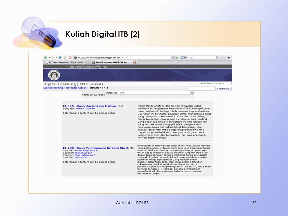 Kuliah Digital ITB [2] Comlabs USDI-ITB